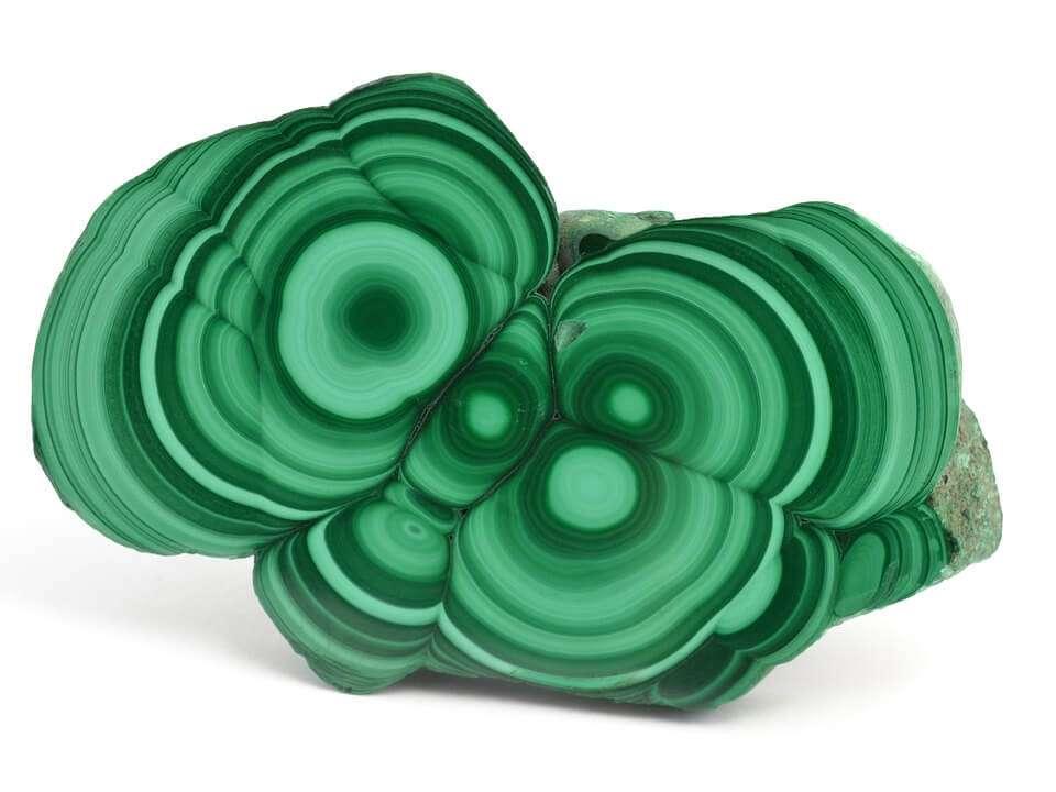 malachite gemstone slice