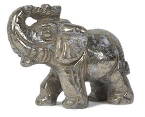 pyrite lucky elephant crystals for abundance