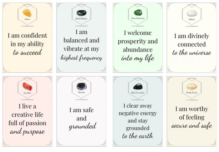 crystal affirmation cards set