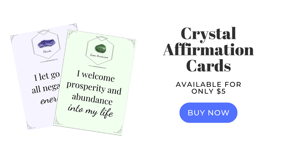 crystal affirmation cards banner