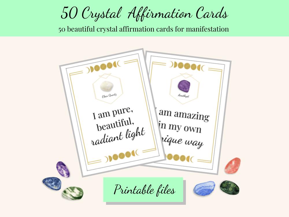 crystal affirmation cards printable
