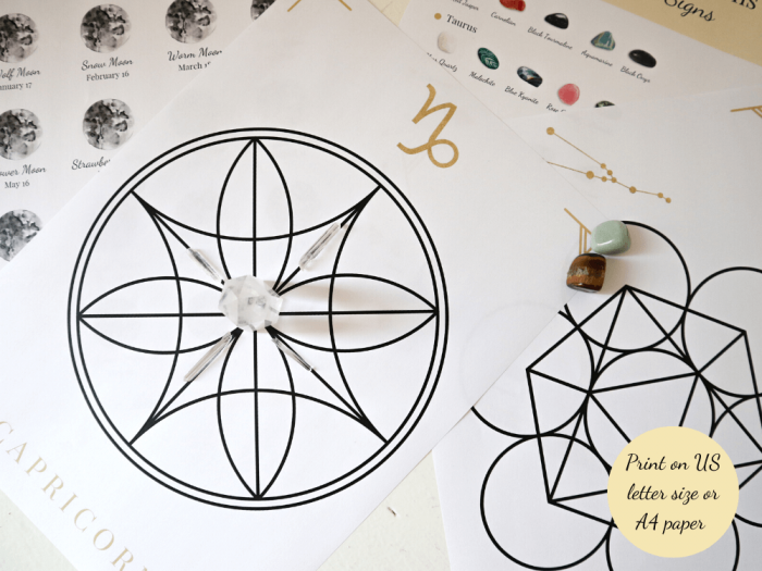 zodiac bundle grids printed