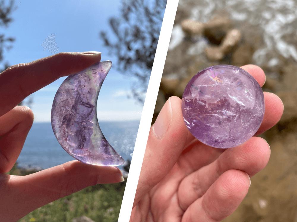 purple fluorite vs amethyst