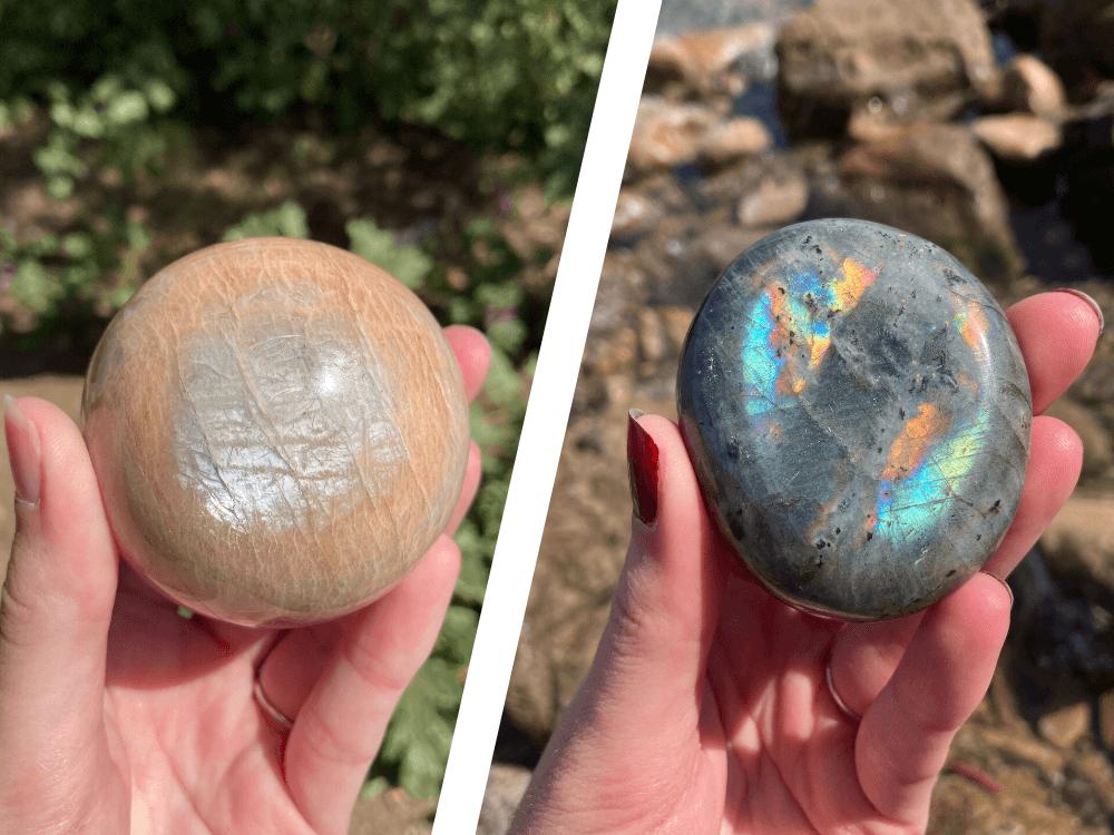 moonstone vs labradorite