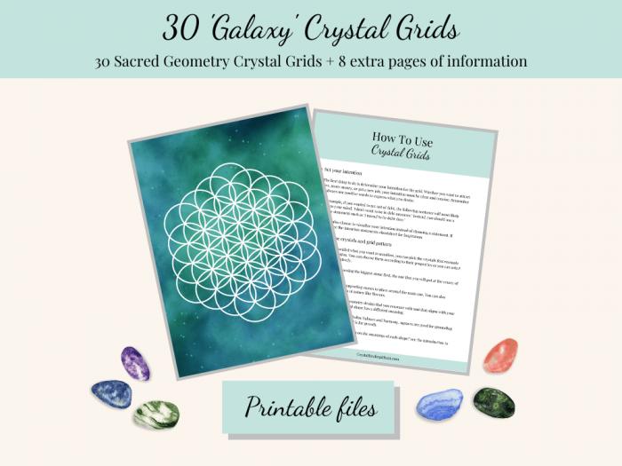 Galaxy printable crystal grids