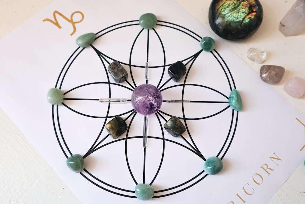 crystal grid for abundance and luck