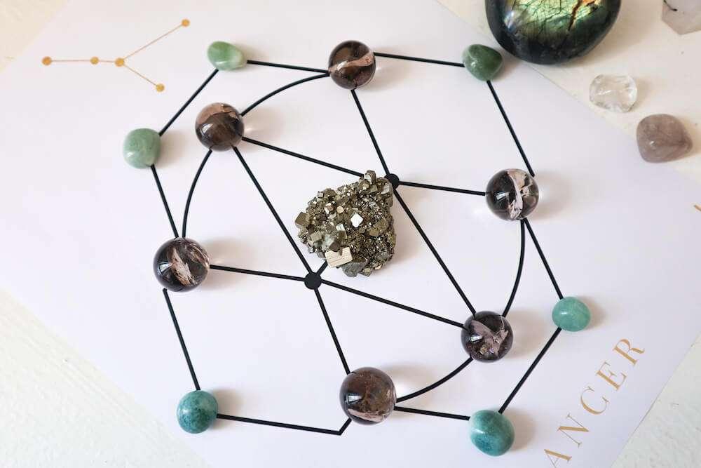 crystal grid for abundance and prosperity