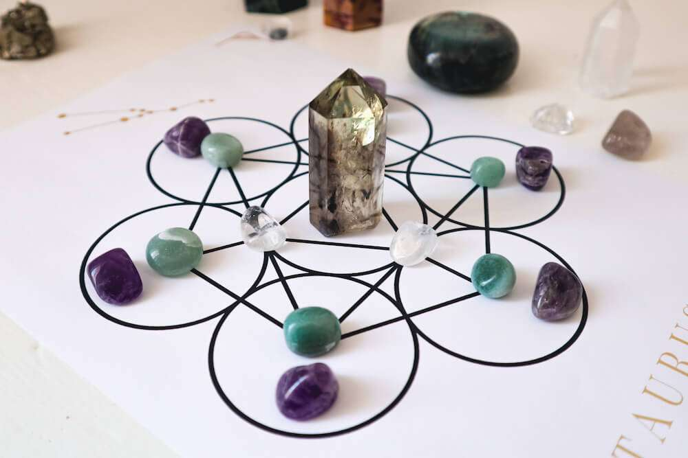 crystal grid for abundance and wealth