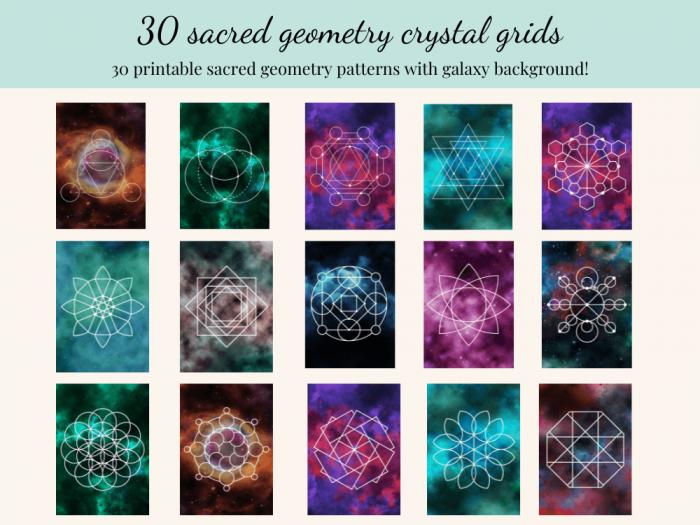 galaxy crystal grid templates