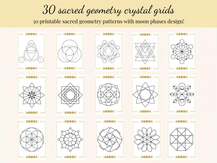 printable crystal grids for manifestation
