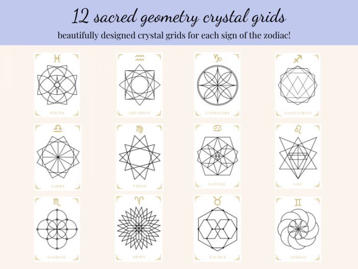 sacred geometry astrology crystal grids