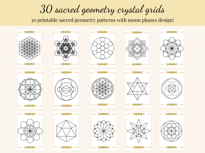 sacred geometry crystal grids printable